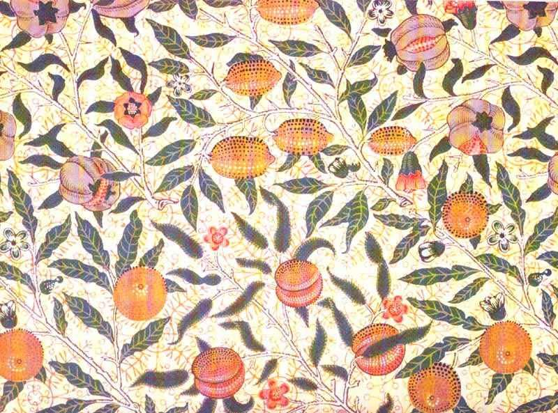 Pre Raphaelite Art William Morris Peaches Wallpaper