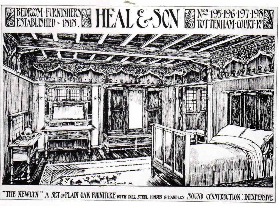 Pre Raphaelite Art: Heals Furniture Advert