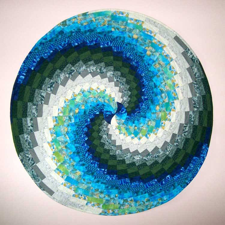 Green To Grey Bargello And Fassett