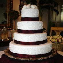Scroll-work Wedding Cake