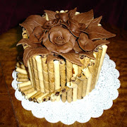 Chocolate-Clay Flowers and Basket Cake