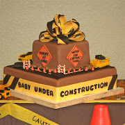 Baby Under Construction Cake