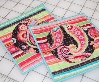 FREEBIES FOR CRAFTERS: Funky Drink Coaster Tutorial