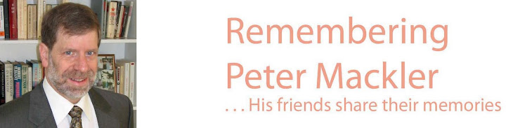 Remembering Peter Mackler