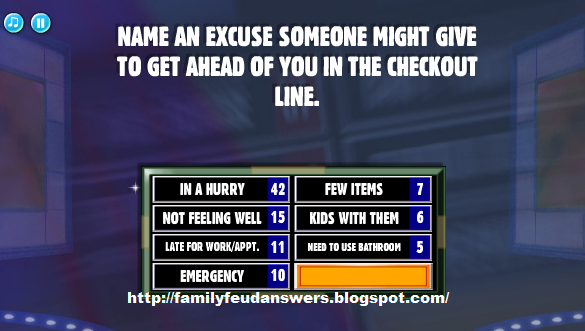 family feud best one page answer cheat page 2
