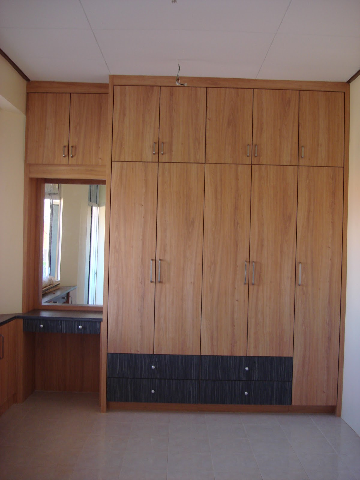 wardrobe designs with study table and dressing table interior design amp renovation kuala terengganu kitchen and 590