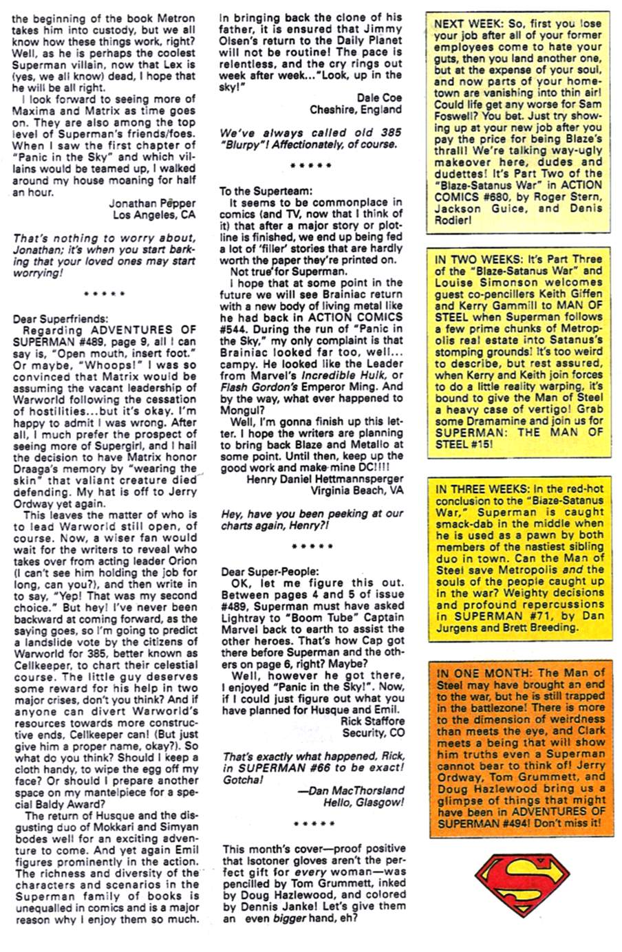 Read online Adventures of Superman (1987) comic -  Issue #493 - 25