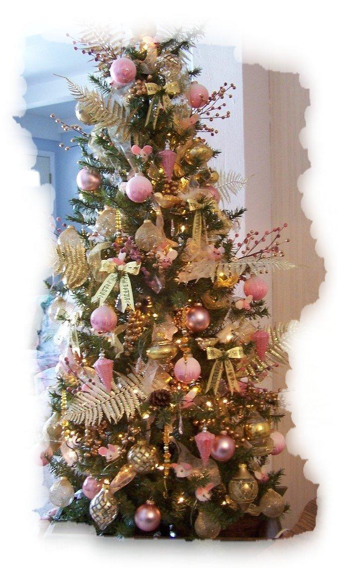 Small Pink Christmas Tree With Lights