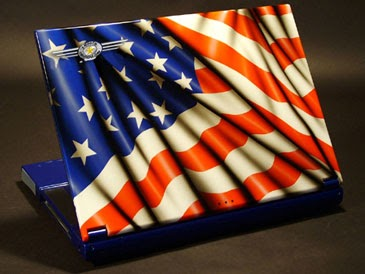 BMW Street Bike >> Airbrushed laptop with American flag theme | Car Modification 2011