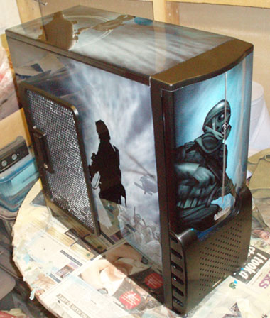 Pc Case Airbrush Call Of Duty Design Airbrushed On
