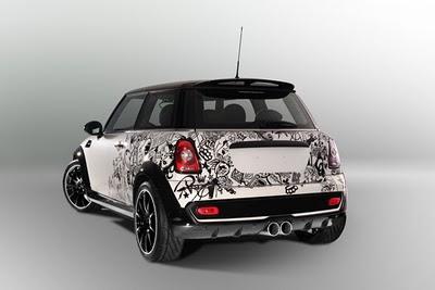 car modification mini cooper car airbrush by denis simachev