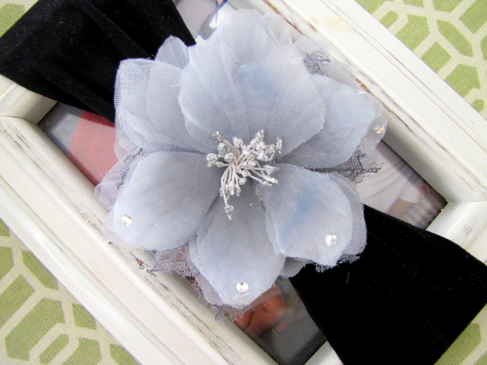 Nylon Baby Headband With Flower Clip Tutorial Craft