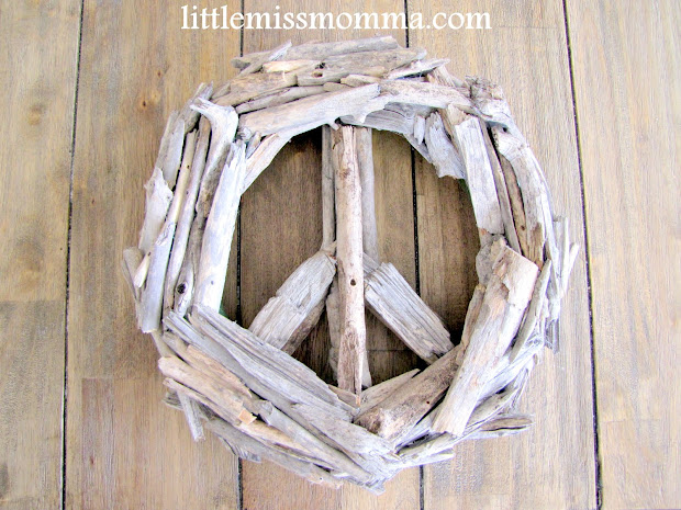 Drift Wood Peace Sign Tutorial - Craft Little Momma