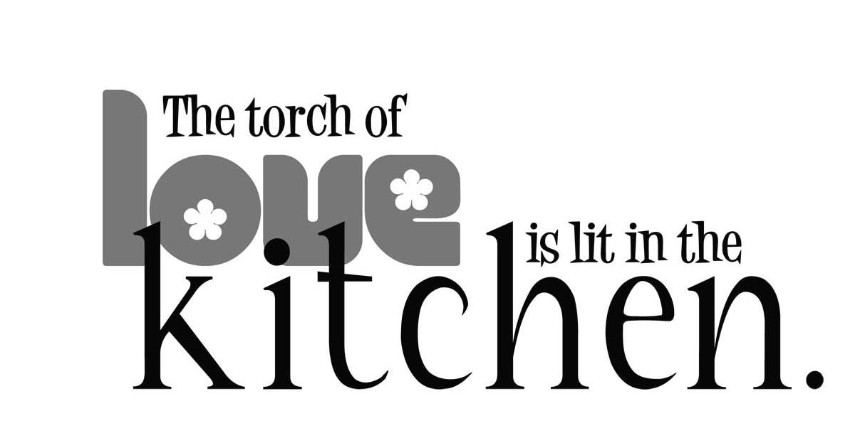 Old Word Art Site In The Kitchen
