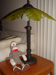 Last Weekend I Bought Two New Coconut Palm Tree Lamps At Lowes They Are Suited For Indoor Or Outdoor Use But We Re Using Them Inside As End Table