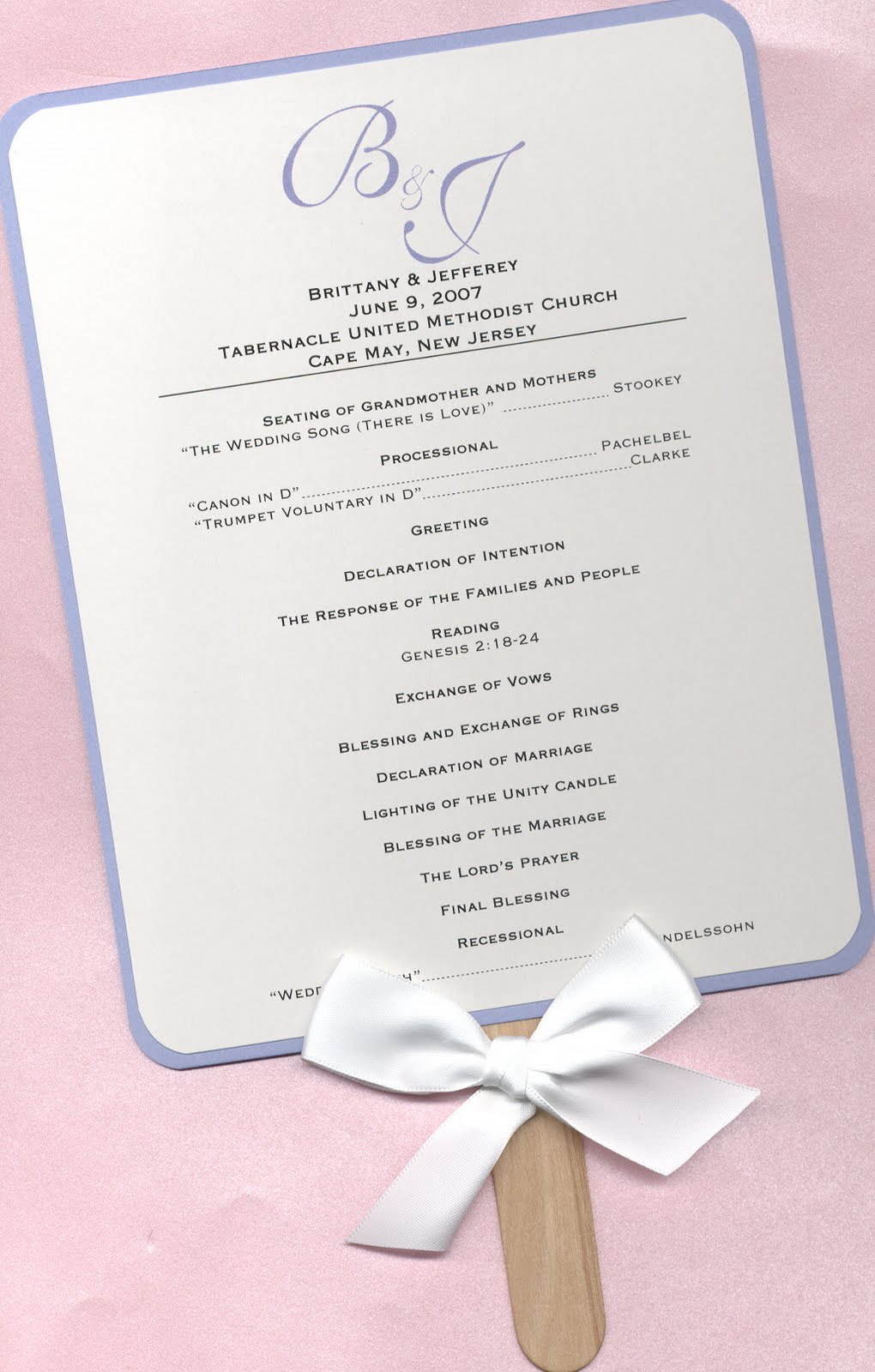 Design-Aholic: Wedding Program Fans