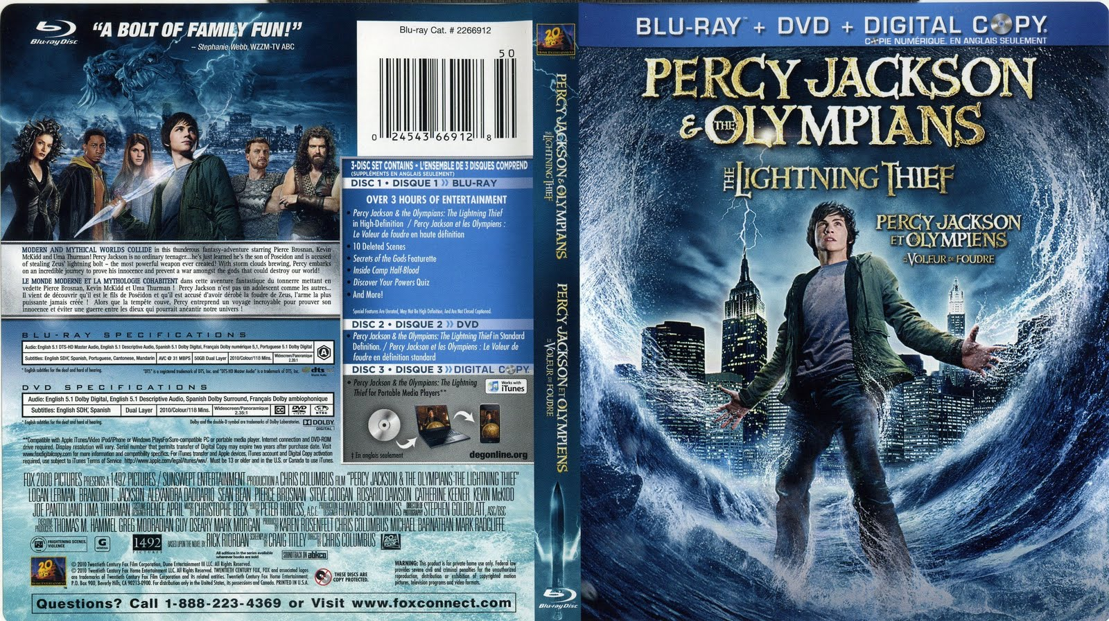 Blu Ray Labels Percy Jackson Amp Olympians The Lightning Thief