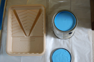 My Log Cabin Life: Painting II: Sky Blue Walls