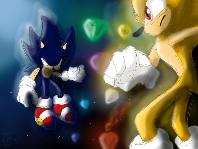 The gallery for --> Super Sonic Vs Dark Super Sonic