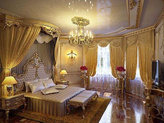 Royal Home Designs: Luxury Home Interior Design: Elegant Bedroom Family