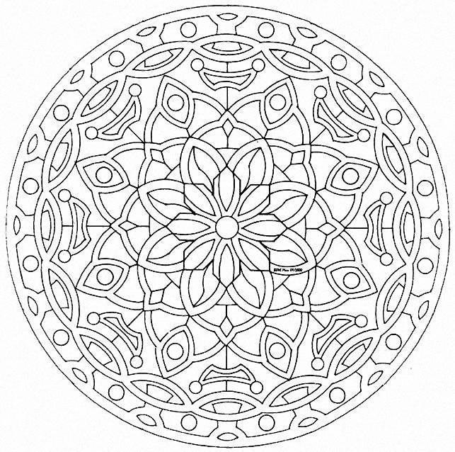 Pintar mandalas   233  um exerc  237 cio criativo que faz bem para a mente e    Complex Mandala Coloring Pages Printable