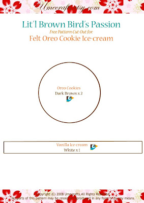 DIY+Cookie+Patterns - Biscoito Oreo de feltro