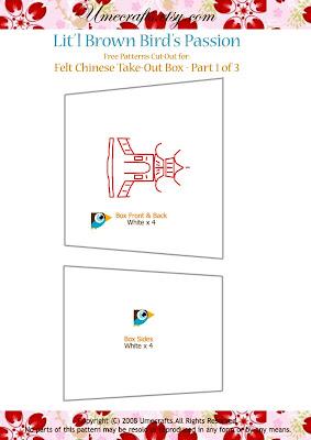 DIY+Take+Out+Box+ +Ptn1 - Caixinha para comida japonesa em feltro