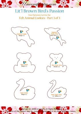 DIY+Cookies+ +Ptn3 - Biscoitinhos de feltro