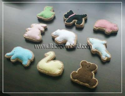 biscoitinhos de feltro