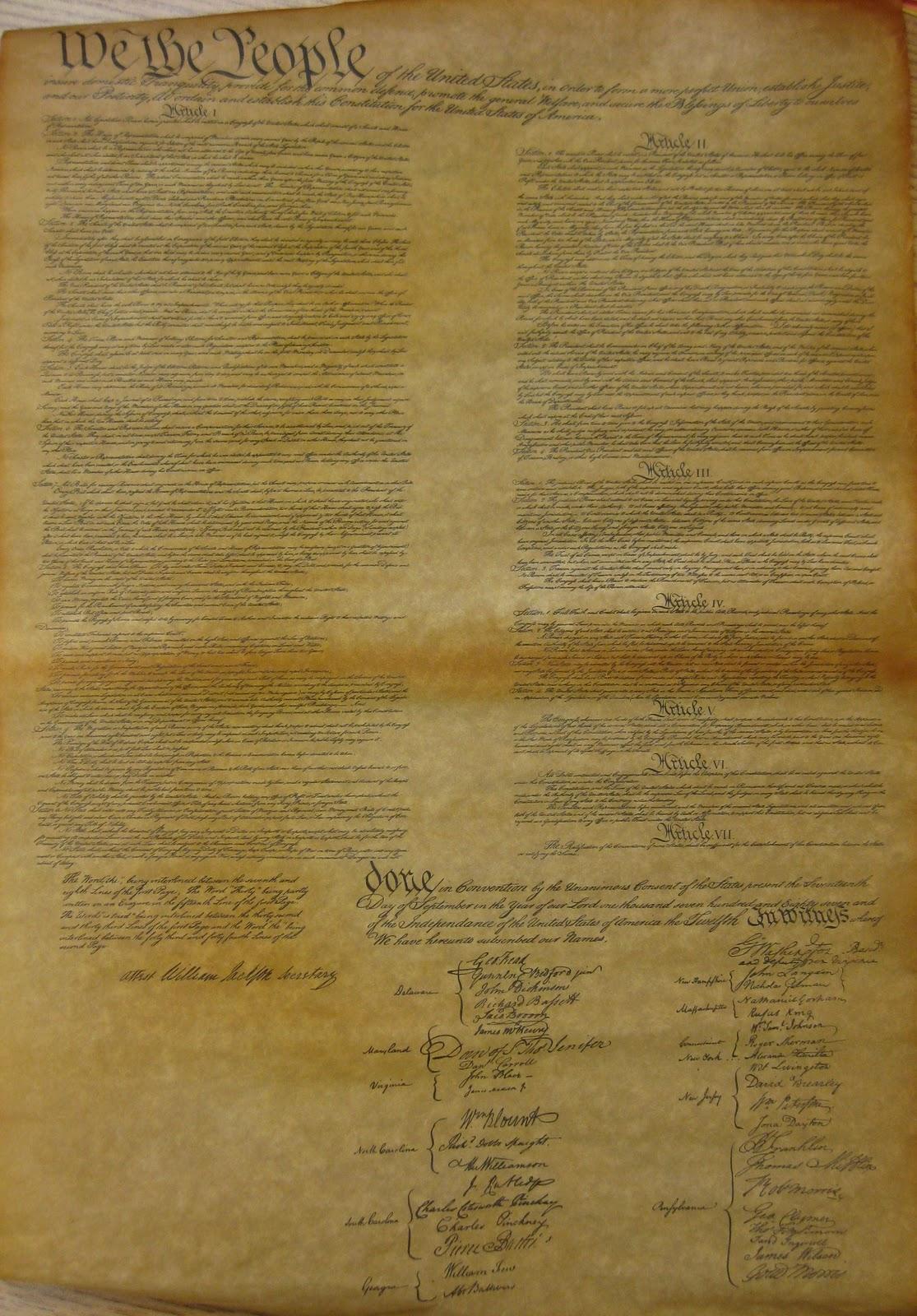 United States Constitution Authentic Replica