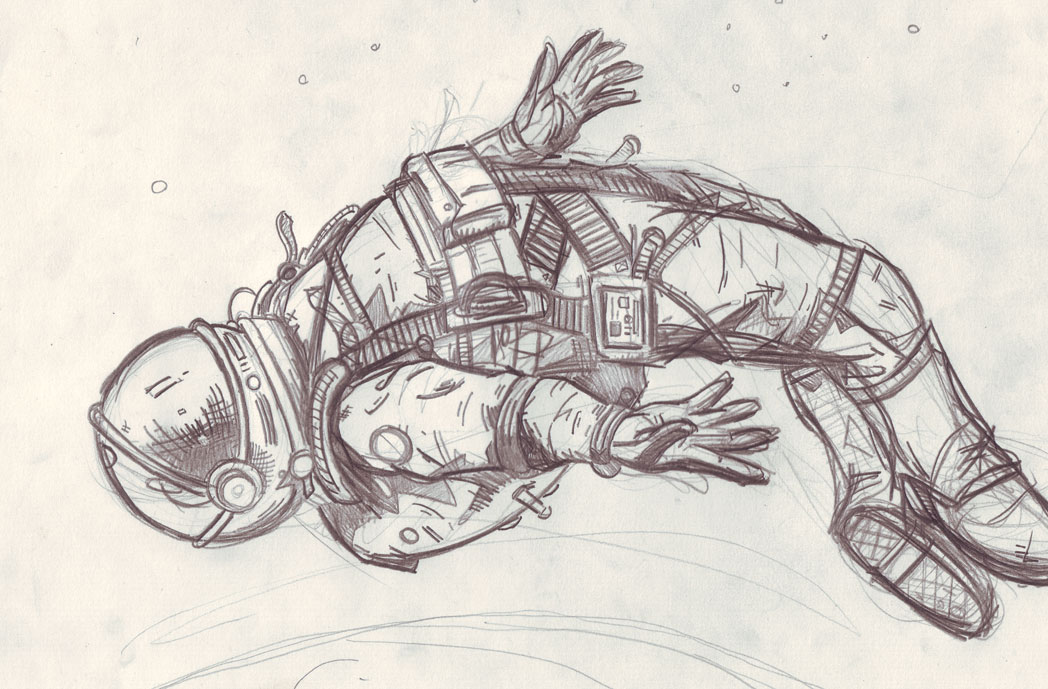 detailed drawings of astronauts - photo #4