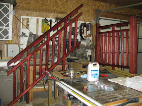 Adventures In Mixed Media Marty S Mission Style Stair Rail Project   Mission Style Stair Railing   Modern   Metal Picket   Decorative Glass   Staircase   Bannister