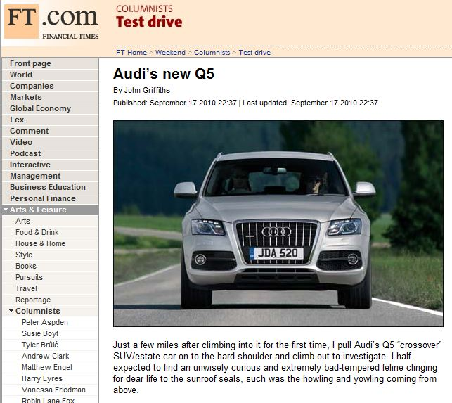 John Griffiths should be in Financial Times - cars & life | cars