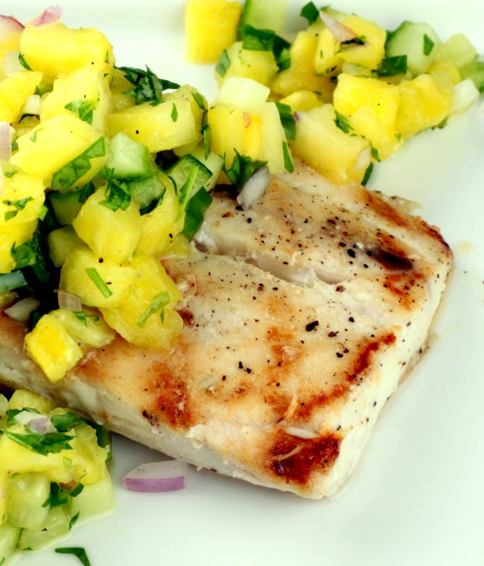 Sugar Cooking: Grilled Mahi Mahi with Pineapple Cucumber Salsa
