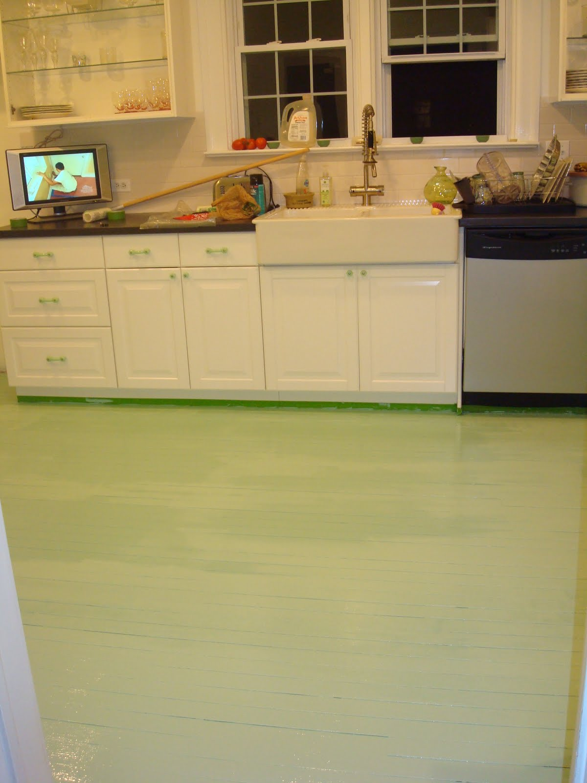 DIY: Painted Kitchen Floor For $50!