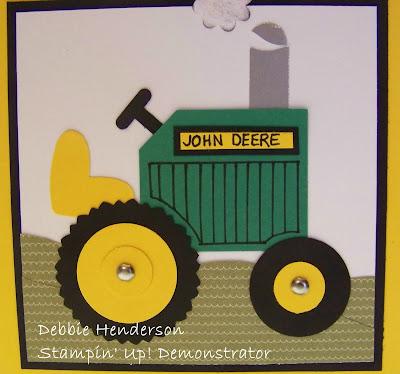 John Deere Combines Birthday Cards
