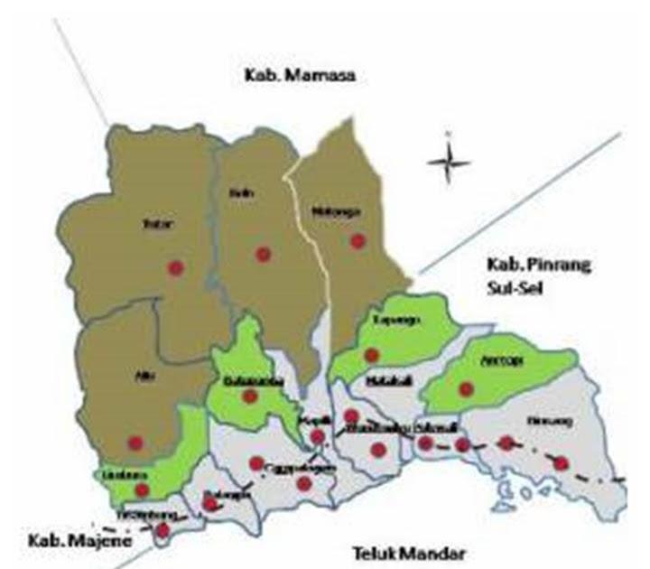 PETA DIGITAL: Peta Kabupaten Polewali Mandar Sulawesi Barat