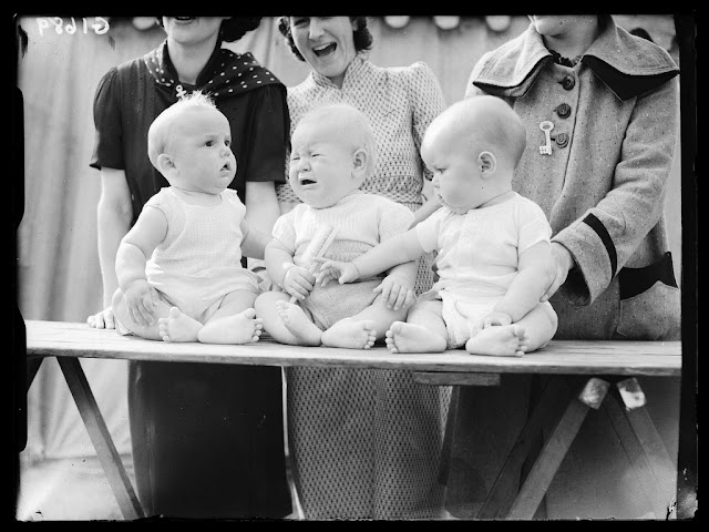 Baby show. Reuben Saidman (1906-1967); Digital positive from glass negative. Collection of National Media Museum.This photograph is from the Daily Herald Archive, held at the National Media Museum. It is a collection of over three million press photographs, dating from c.1911-1970. photography-news.com, photography news, Diana Topan, International Children's Day, June 1, vintage baby photos