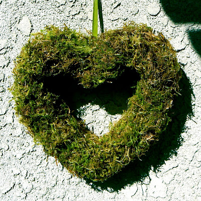 Moss wreath for Valentine's Day