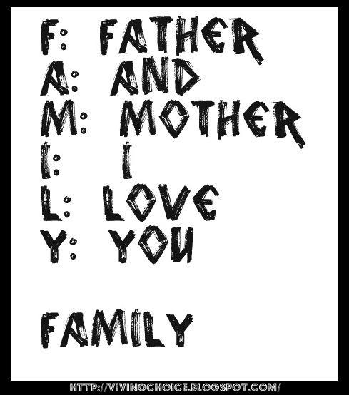 Ṿ ♥ ƝO CHOƖCƎ: Family