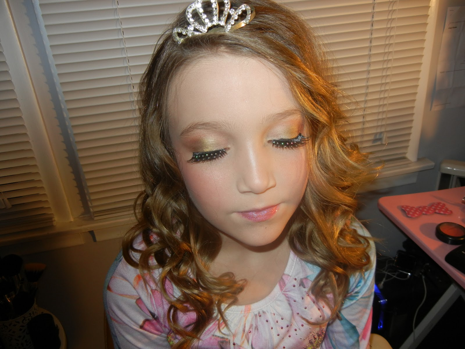 Toddlers and Tiaras inspired makeup and hair transformation. 1600 x 1200.Hairstyles For Little Girls Beauty Pageant