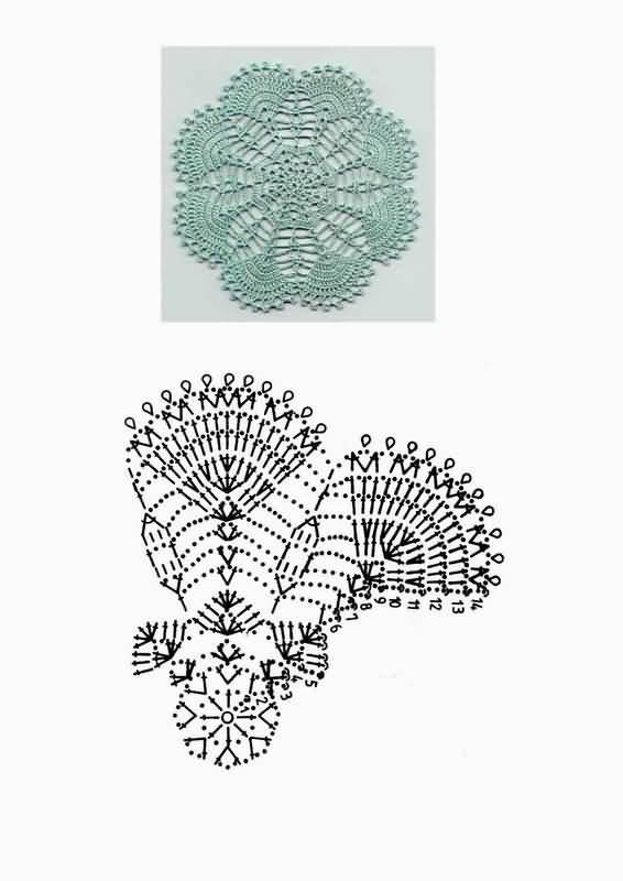 вязание крючком схемы объС'мные цветы. схема вязания крючком украшения...