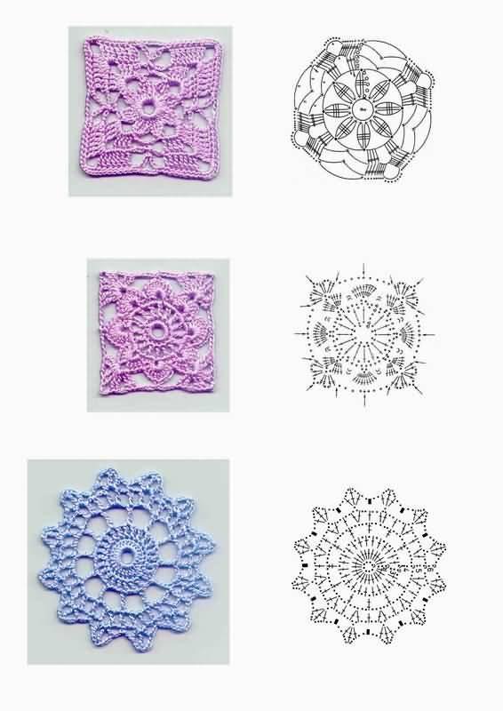Схема вязания бабушкиного квадрата. бабушкин квадрат крючком схема.