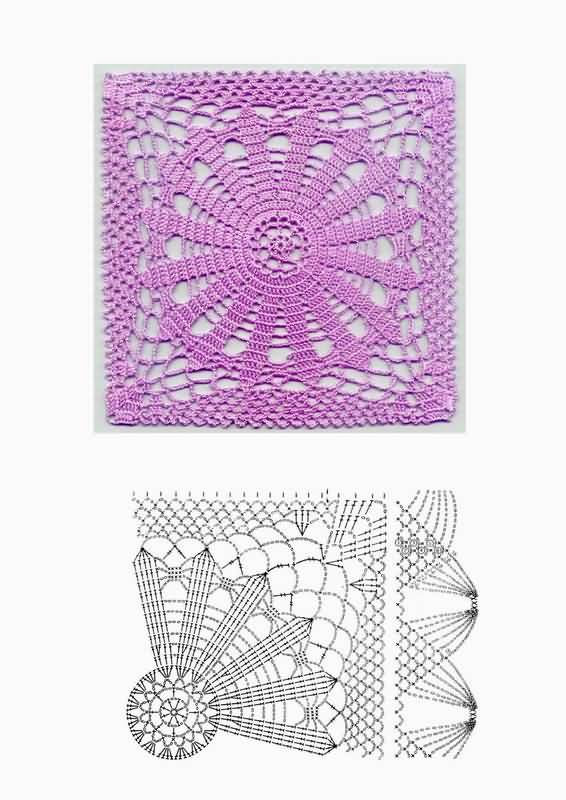 Узоры вязания крючком Схемы узоров для вязания крючком, кофты модные.