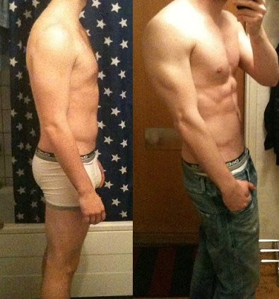 Henrik A — Progress pictures before and after Leangains