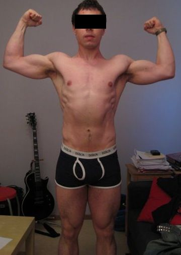 Mikael R — After Leangains @ 180lbs (Front)