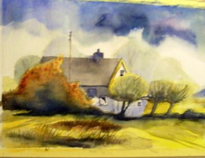 mes peintures: maison de campagne