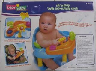 My Baby World sit n play bath tub activity chair baby baby