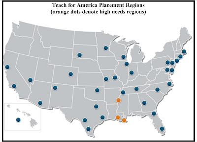 teach for america map Teach For America Working In Tennessee The Bluegrass Institute