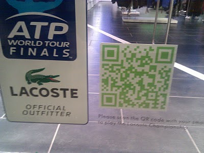 Lacoste store QR codes shop window